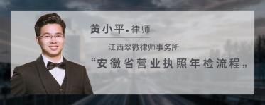 安徽省营业执照年检流程