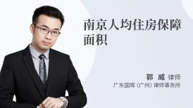 南京人均住房保障面积