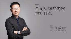 合同糾紛的內容包括什么-楊斌律師