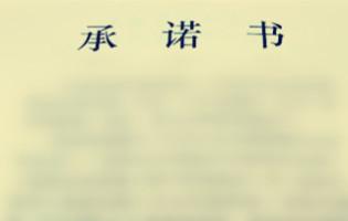 承诺书范文