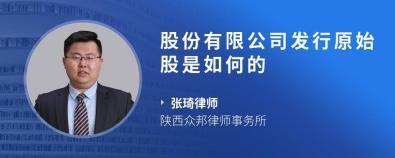 股份有限公司发行原始股是如何的-张琦律师