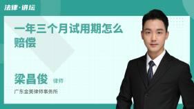 一年三个月试用期怎么赔偿-梁昌俊律师