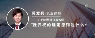 抚养权的确定原则是什么-蒋爱兵律师