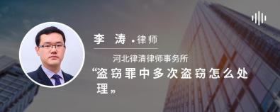 盗窃罪中多次盗窃怎么处理-李涛律师